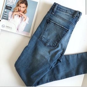 Anthro McGuire Mid-Rise Blue M Pocket Skinny Jeans